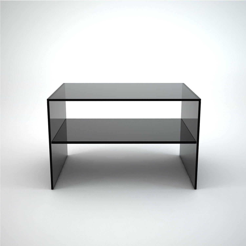 Judd Smoked Glass Side Table Klarity Glass Furniture