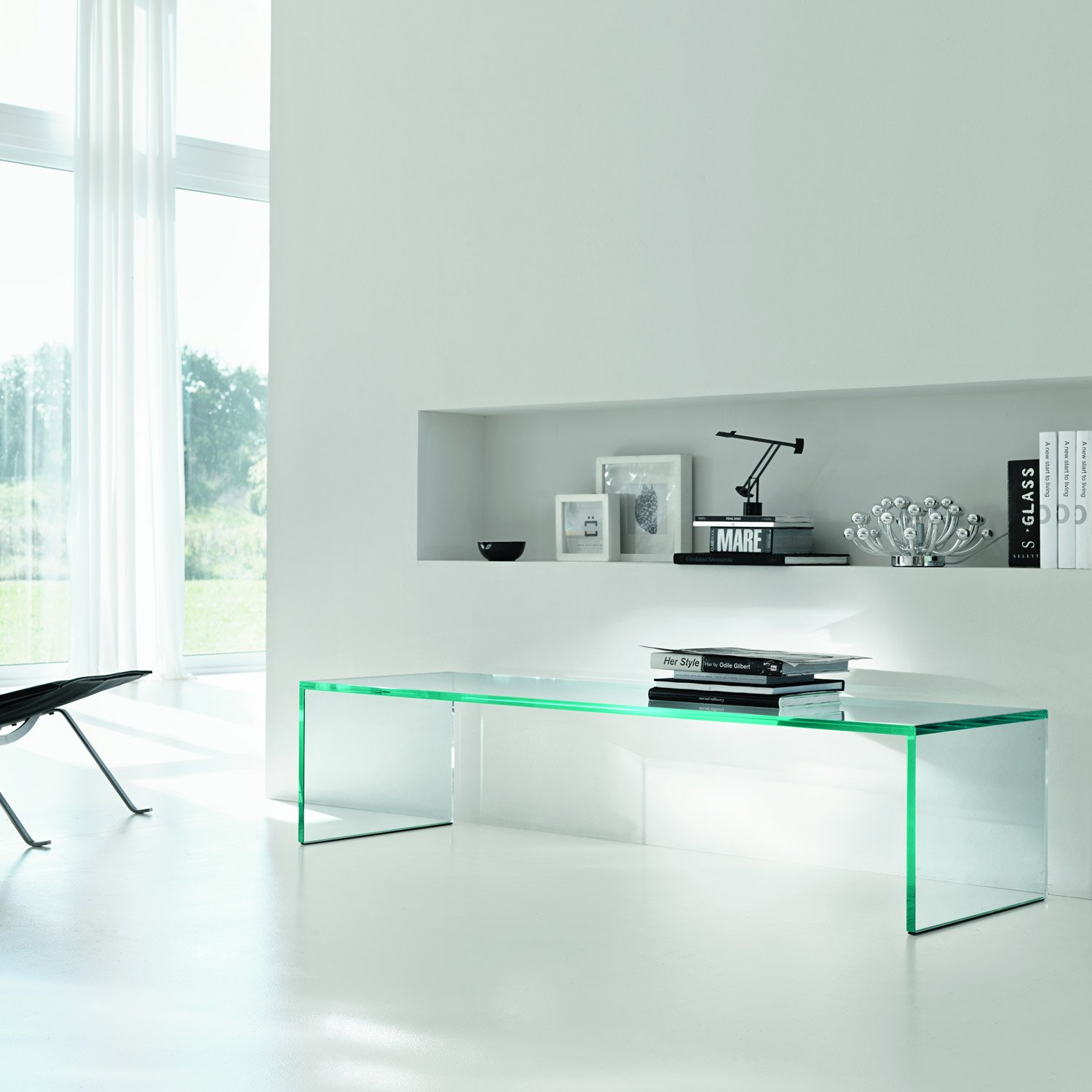 All glass coffee table