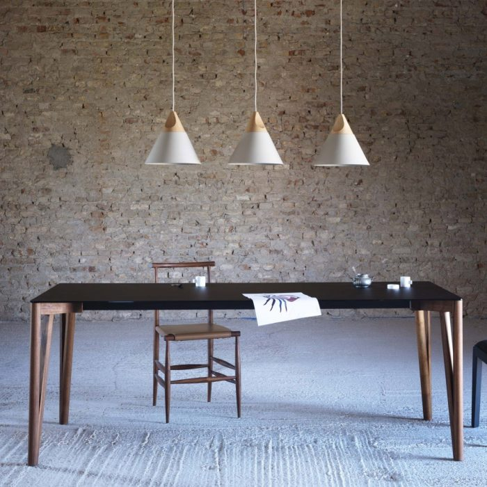 wood and glass dining table