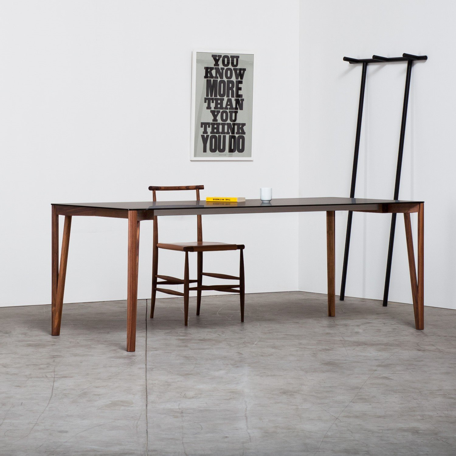 Decapo wood and Glass Dining Table - Klarity - Glass Furniture