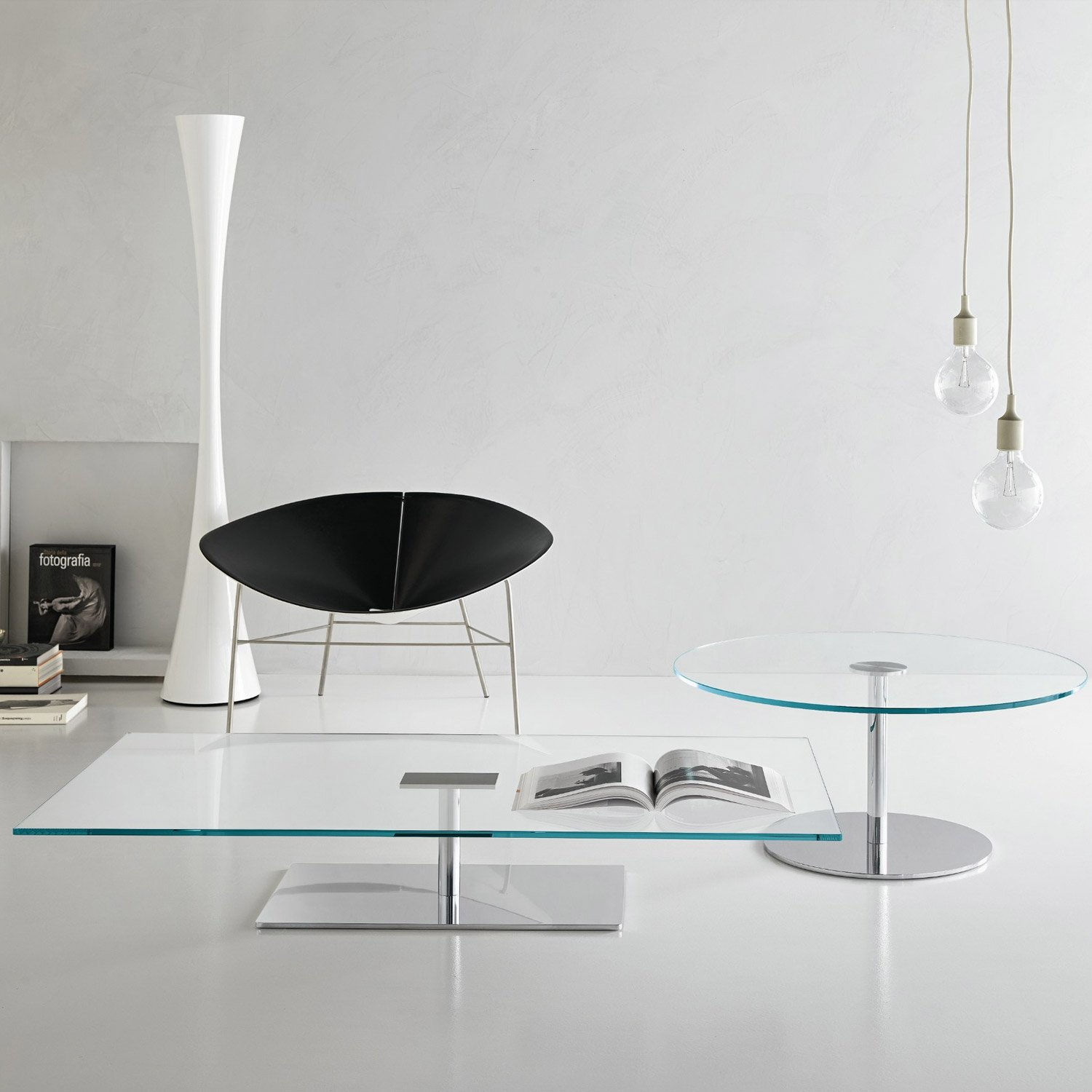 Farniente Rectangular Glass And Metal Coffee Table By Tonelli Klarity Glass Furniture