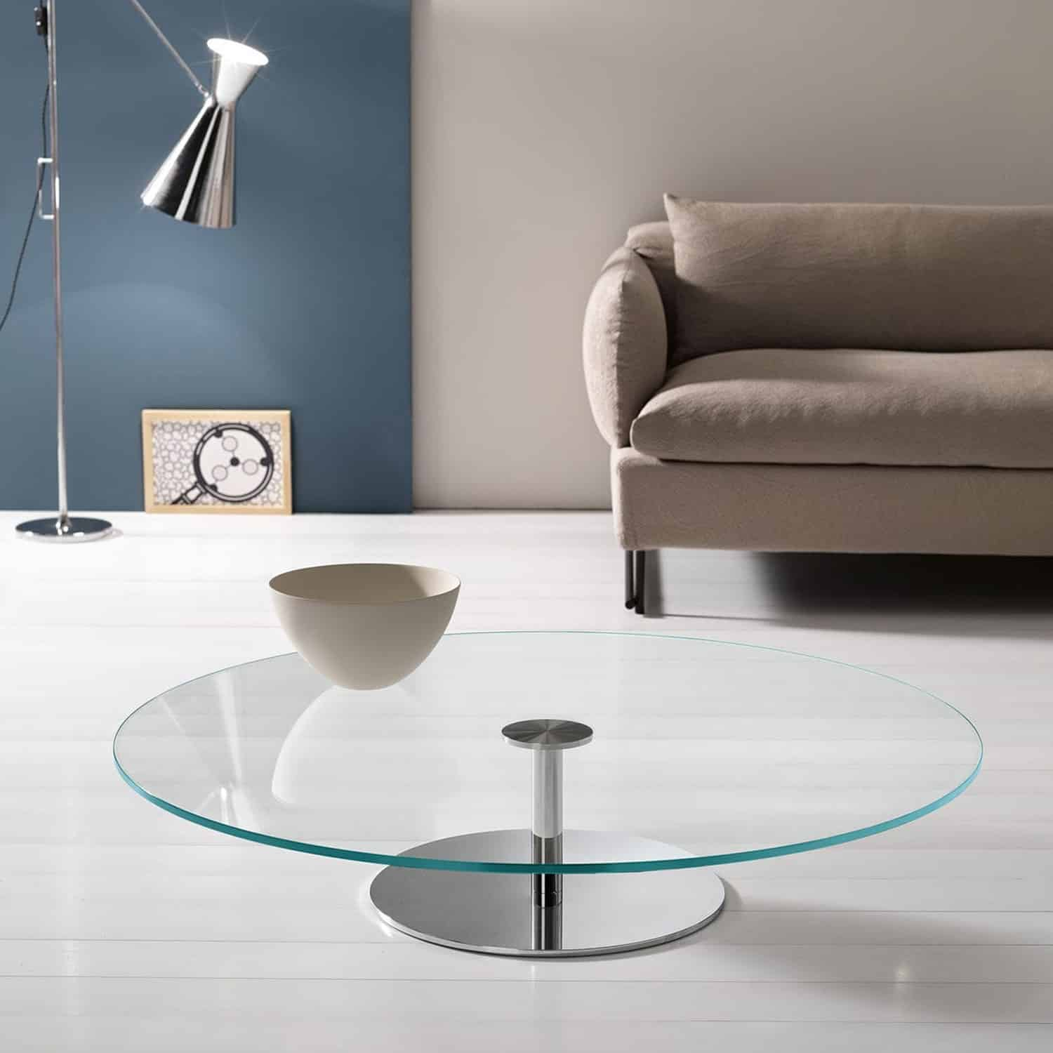 Tonelli farniente coffee table klarity glass furniture Metal and glass coffee table