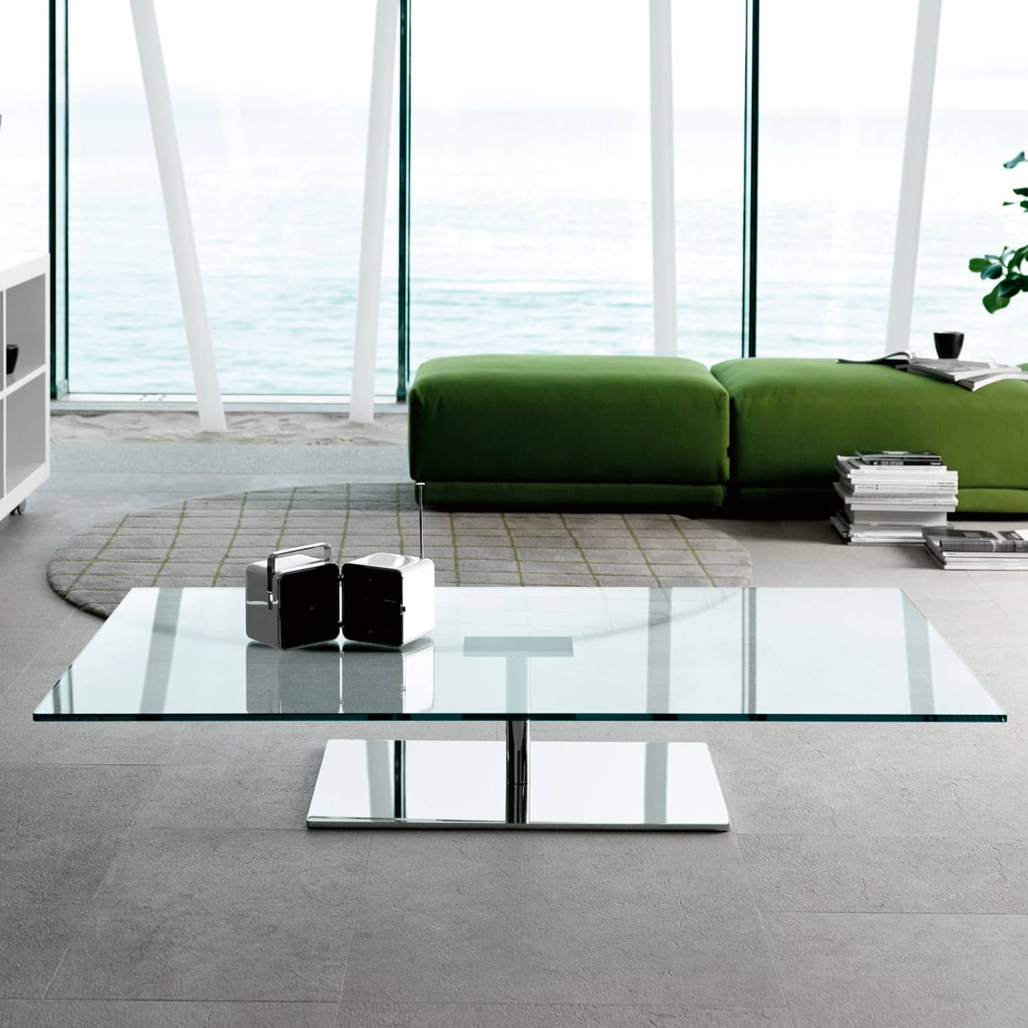 Glass Coffee Tables Furniture Village: Farniente Rectangular Glass And Metal Coffee Table By