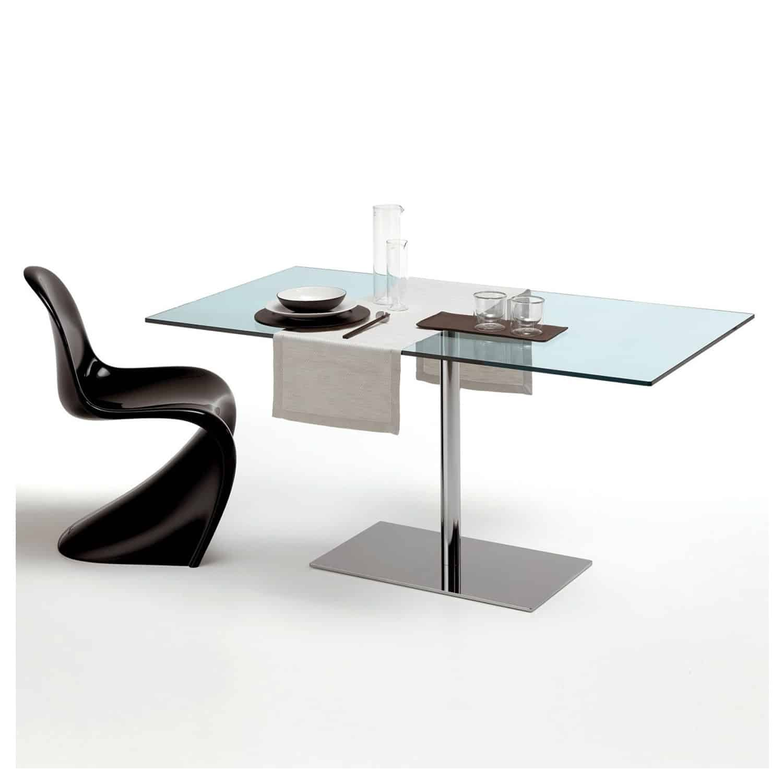 Tonelli Farniente Dining Table Rectangular Klarity Glass Furniture