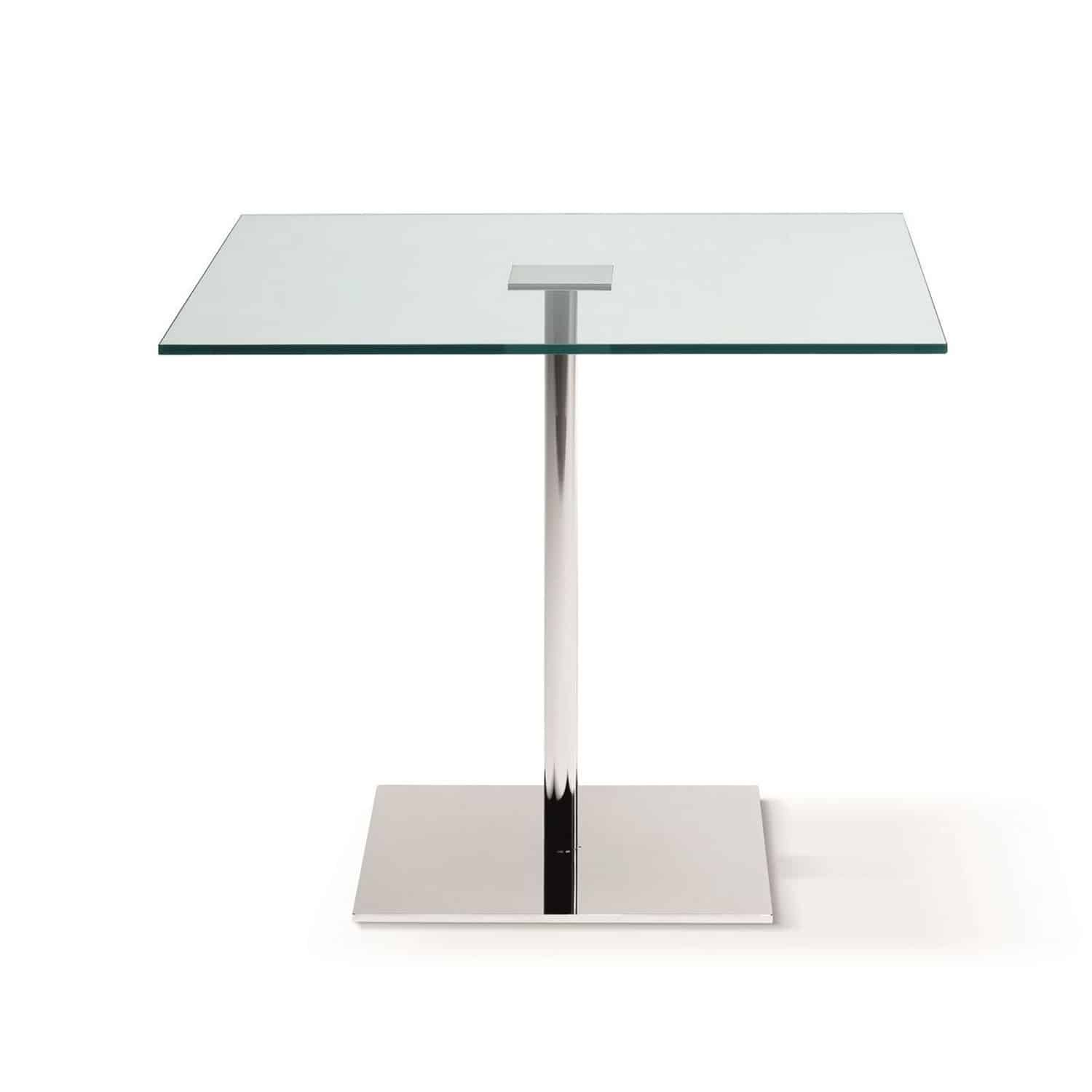 Farniente square glass and metal dining table by tonelli for Glass furniture