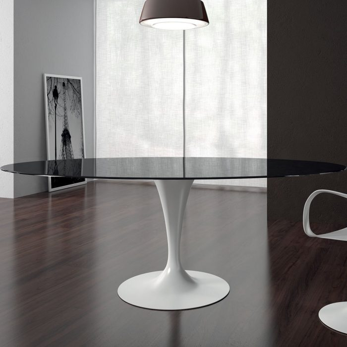 flute-oval-glass-and-metal-diing-table-sovet