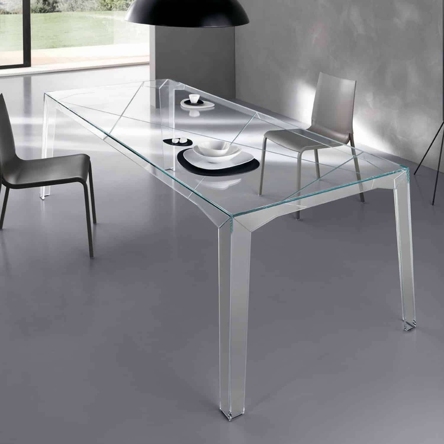 All Glass Dining Room Table kukielus