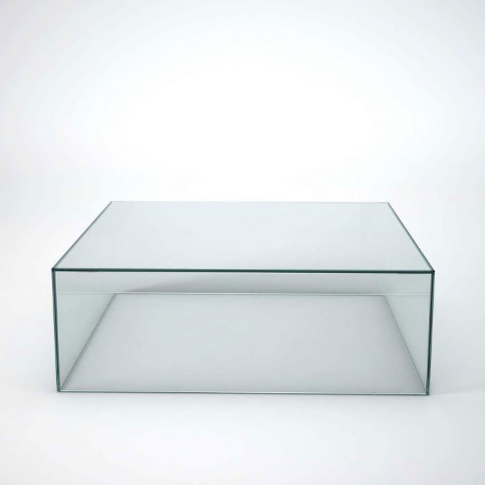 glass coffee table - square