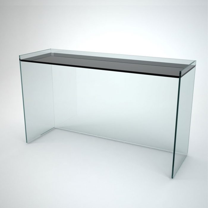 glass console table - recess