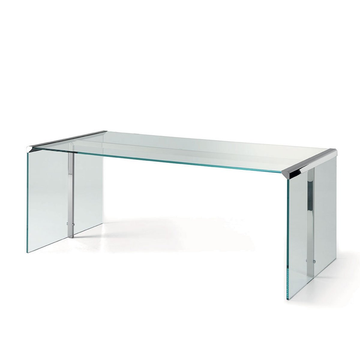 President Glass And Metal Desk By Gallotti Radice Klarity Glass Furniture
