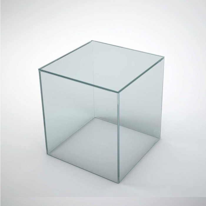 glass table - cubic
