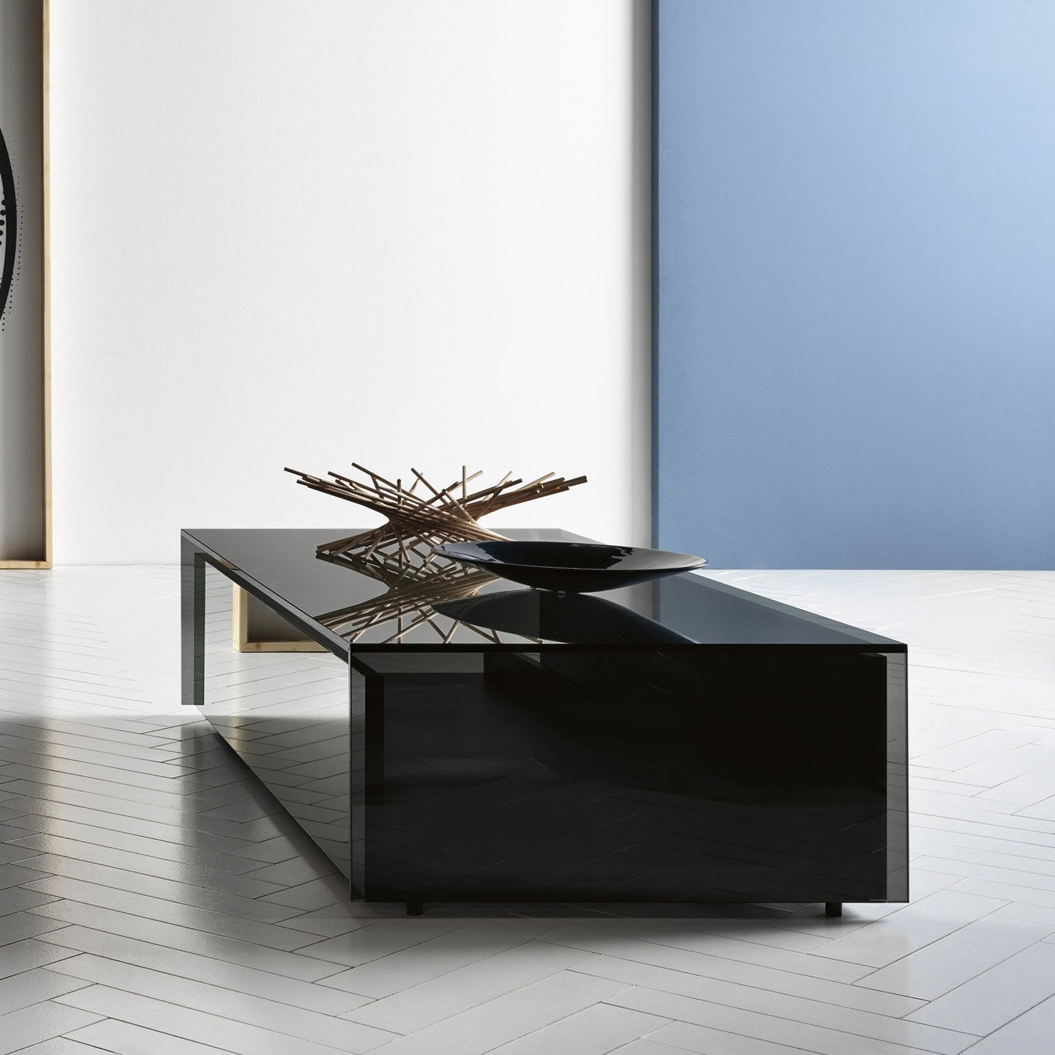 Glass Coffee Tables Uk Only: Ghotam Smoked Glass Coffee Table With 1 Drawer