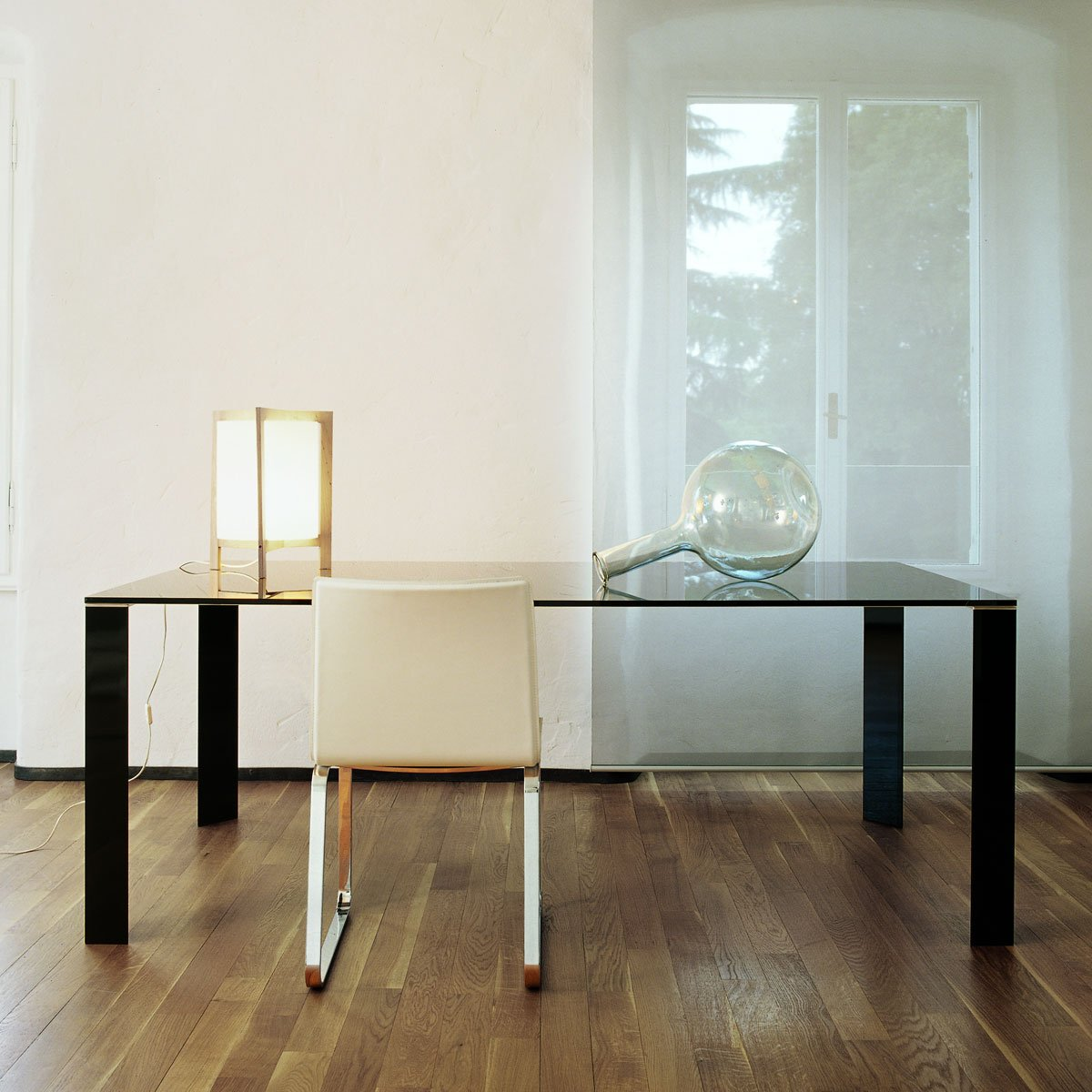 Jean Glass And Metal Dining Table By Sovet Italia Klarity Glass Furniture