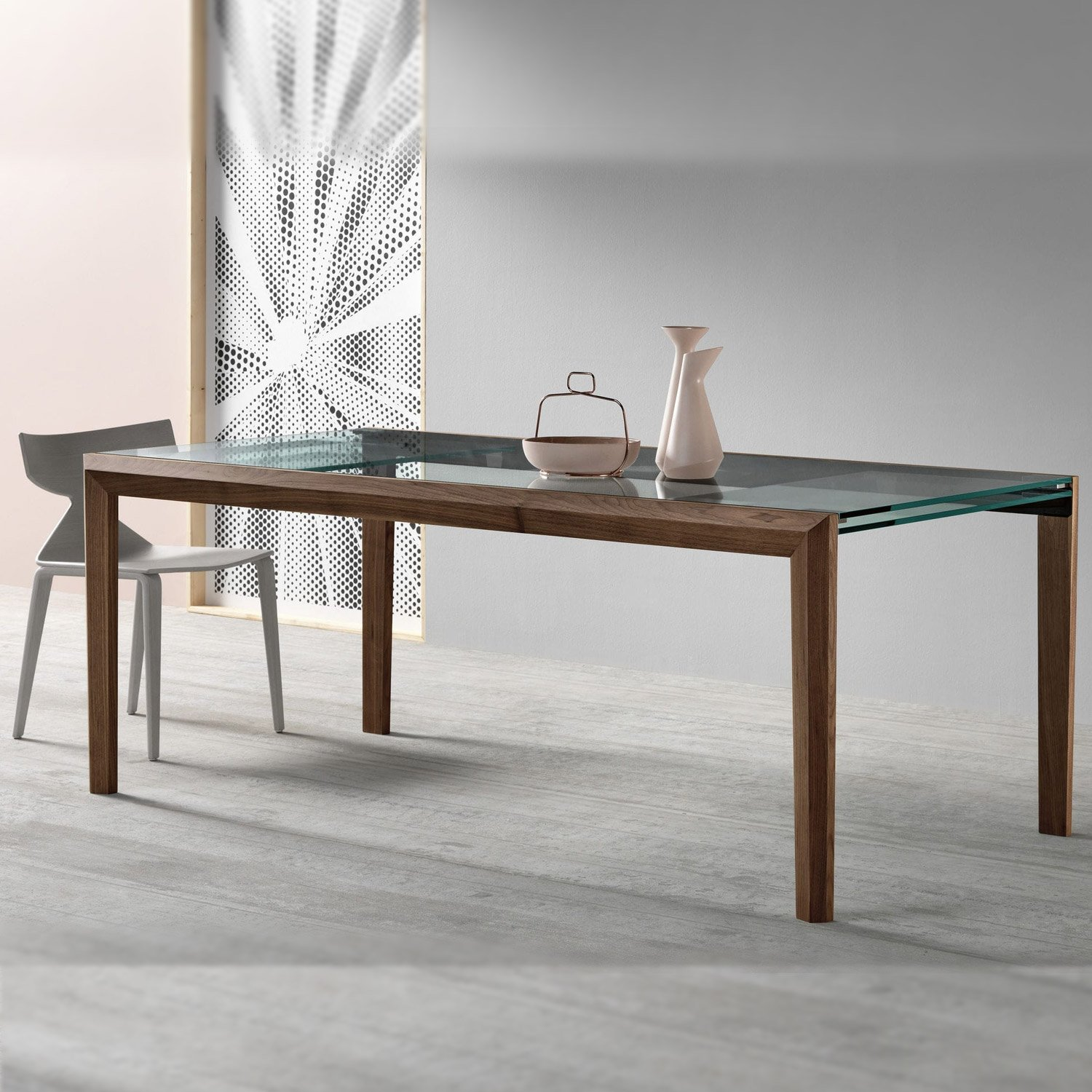 Lapsus Extendable Glass Dining Table By Tonelli