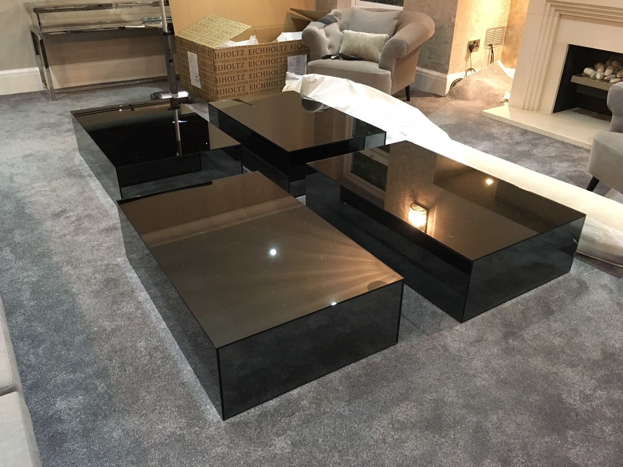 Smoked Mirror Coffee Table
