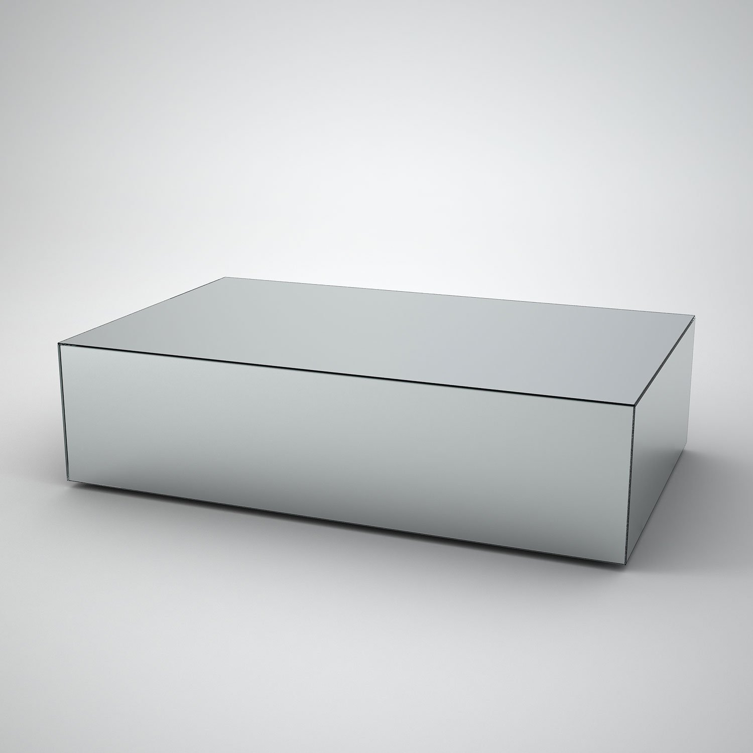 Rectangular Glass Coffee Tables Uk: Rectangular Mirrored Coffee Table By MirrorBox