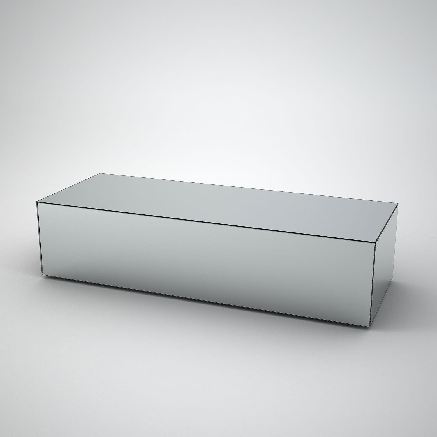 Long Mirrored Coffee Table By MirrorBox