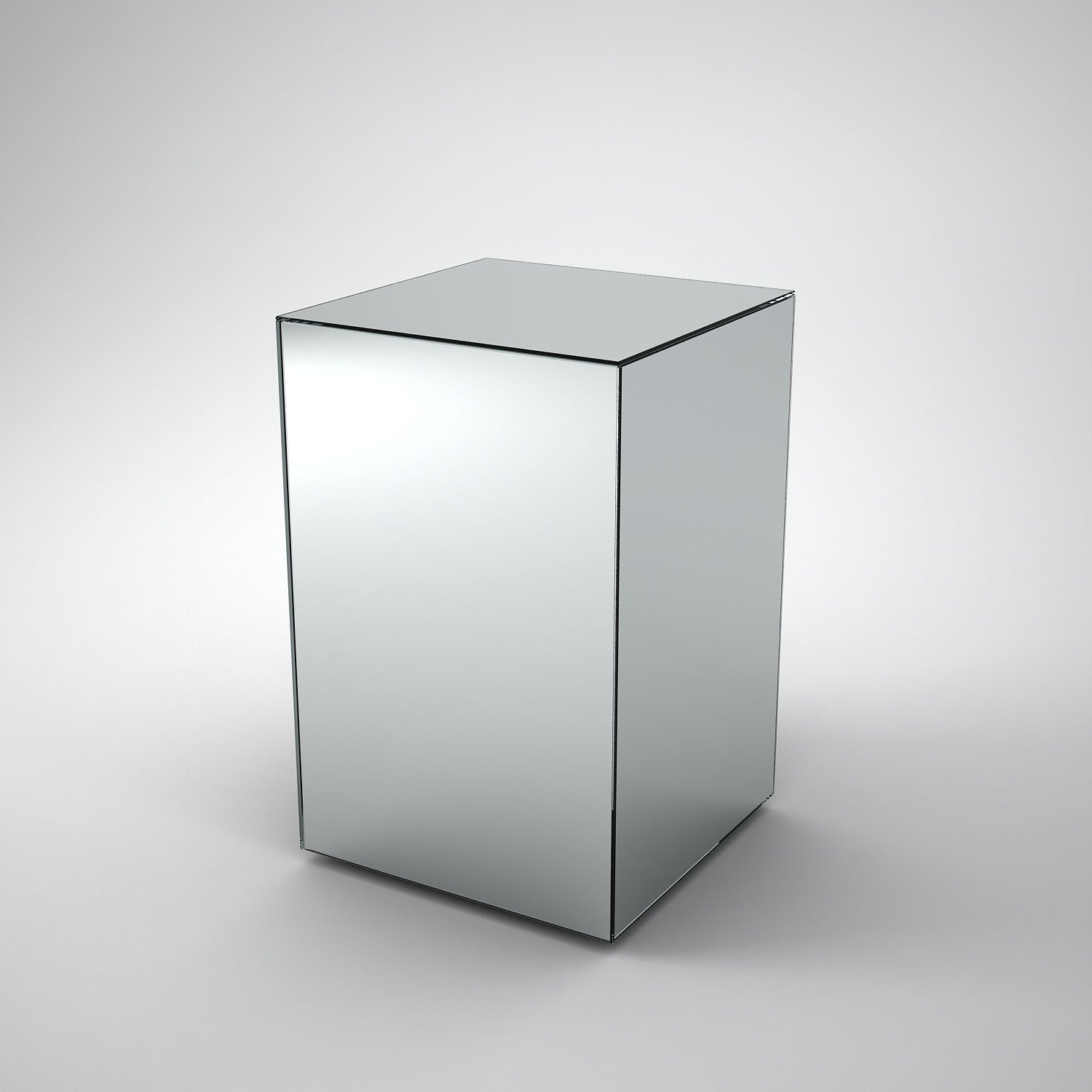 Mirrored Side Table By Mirrorbox Klarity