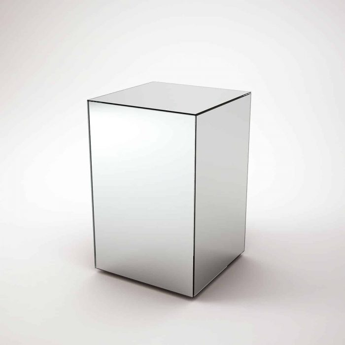 Bronze Mirrored Side Table By Mirrorbox Klarity Glass Furniture