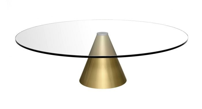 metal and Glass round coffee table