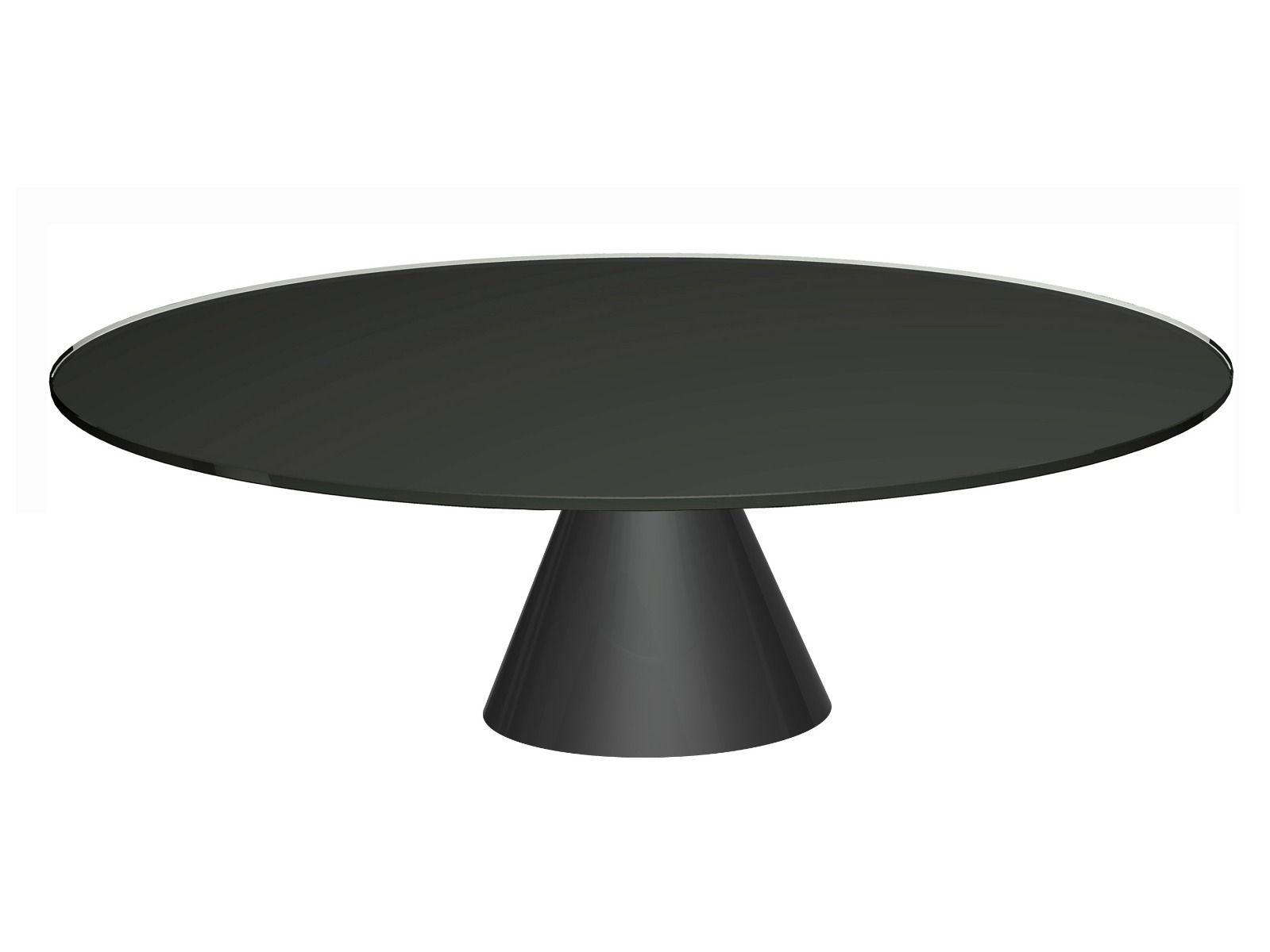 - Oscar Large Circular Coffee Table - Klarity - Glass Furniture