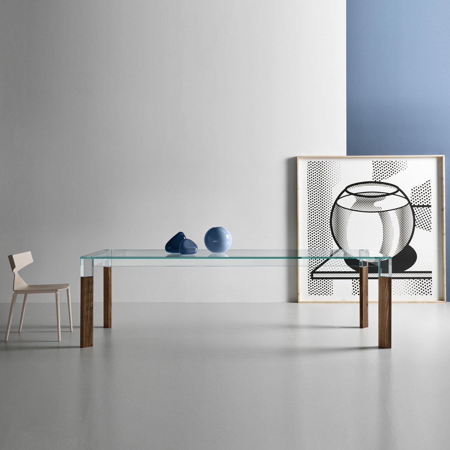 Perseo Glass Dining Table By Tonelli Klarity Glass Furniture