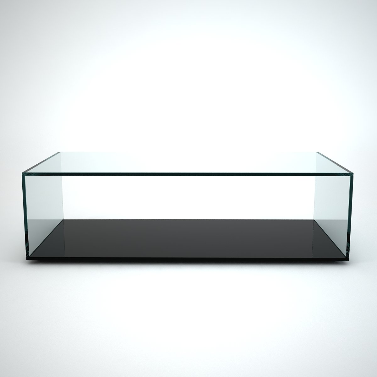 Quebec Rectangular Glass Coffee Table By Klarity