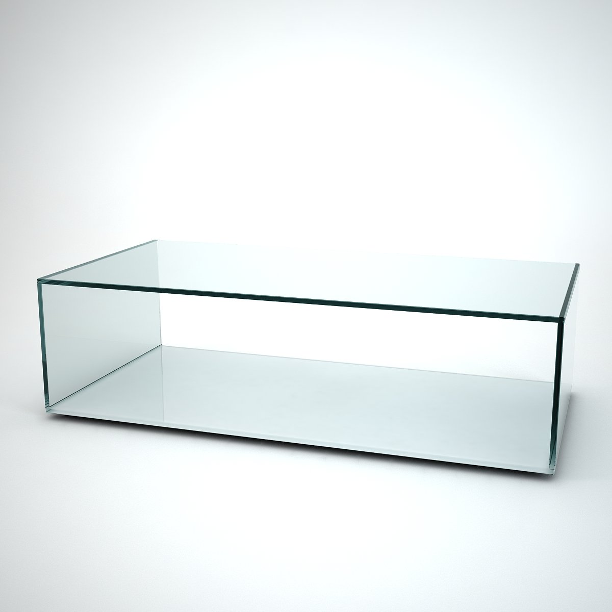 White glass coffee table - Quebec Glass Coffee Table With White Base
