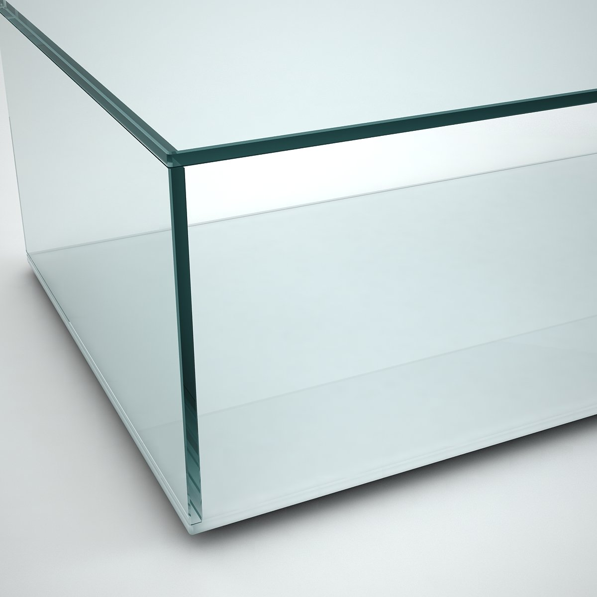 Quebec glass coffee table detail