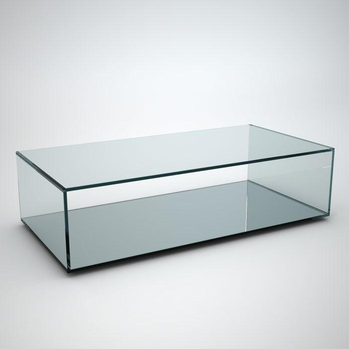 mirrored base coffee table