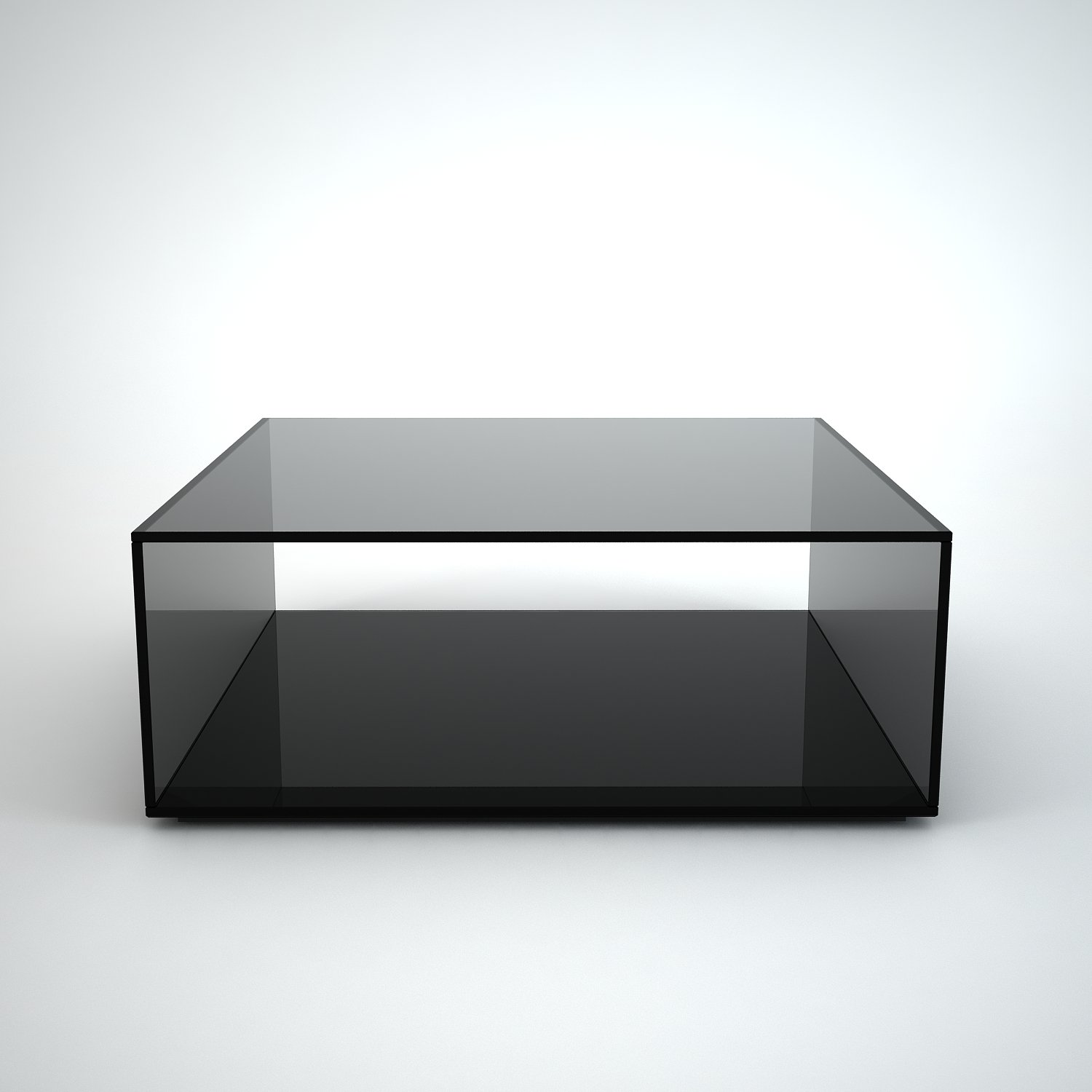 Quebec Square Grey Tint Glass Coffee Table by Klarity Klarity