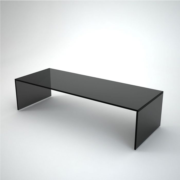 black glass coffee table rectangular