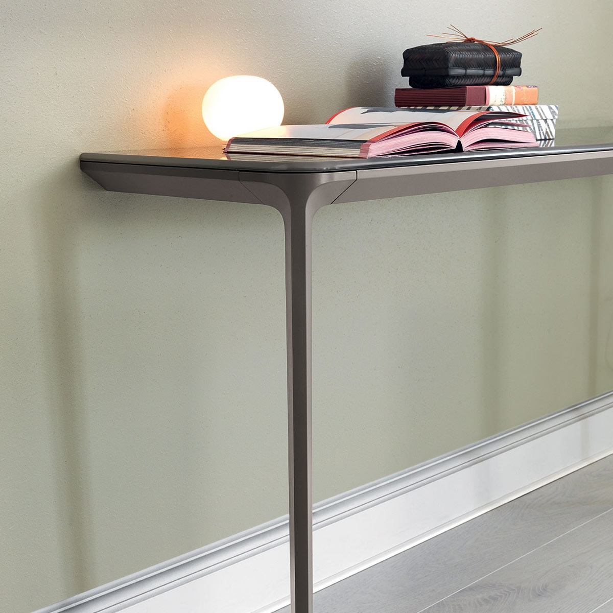 Slim Console Table Wall Mounted Klarity Glass Furniture
