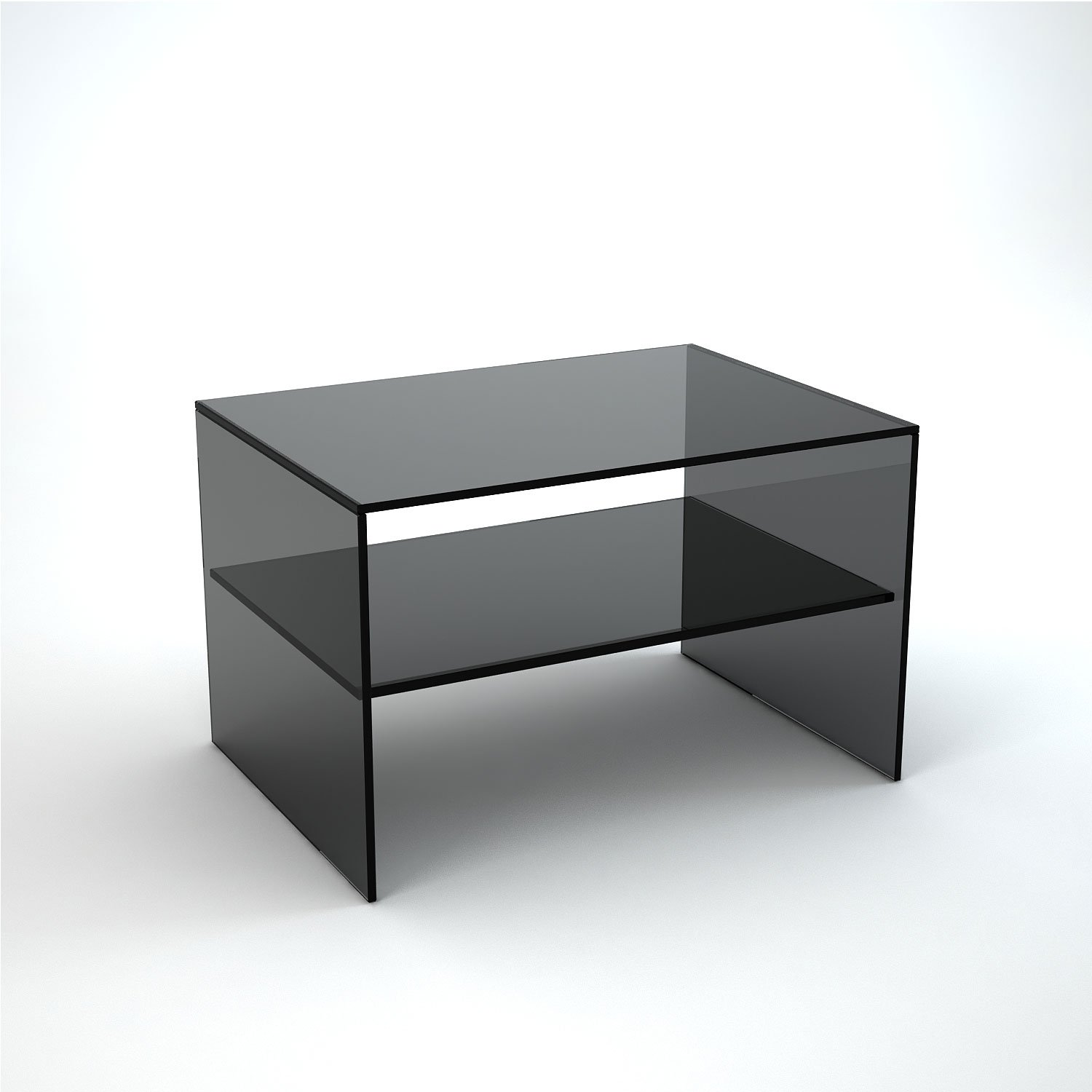 Judd Smoked Glass Side Table Klarity Glass Furniture