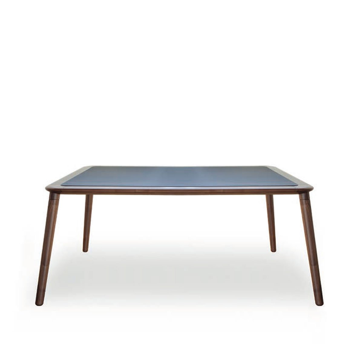 Jonathan Wooden Dining Table With Glass Top Klarity Glass Furniture
