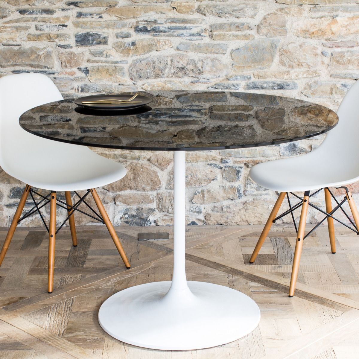 Swan Dining Table - Klarity - Glass Furniture