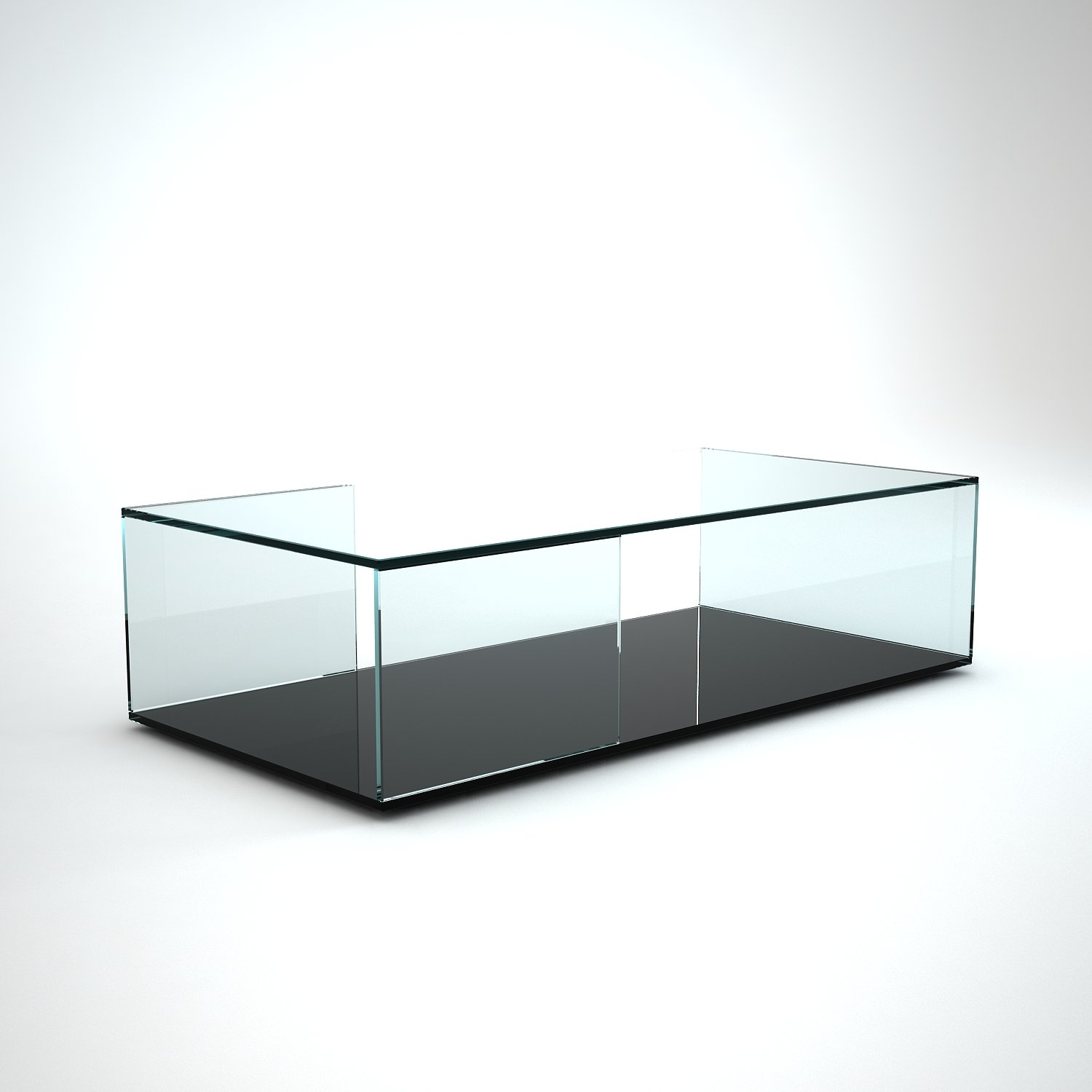 Tifino rectangular glass coffee table by klarity klarity for Glass furniture