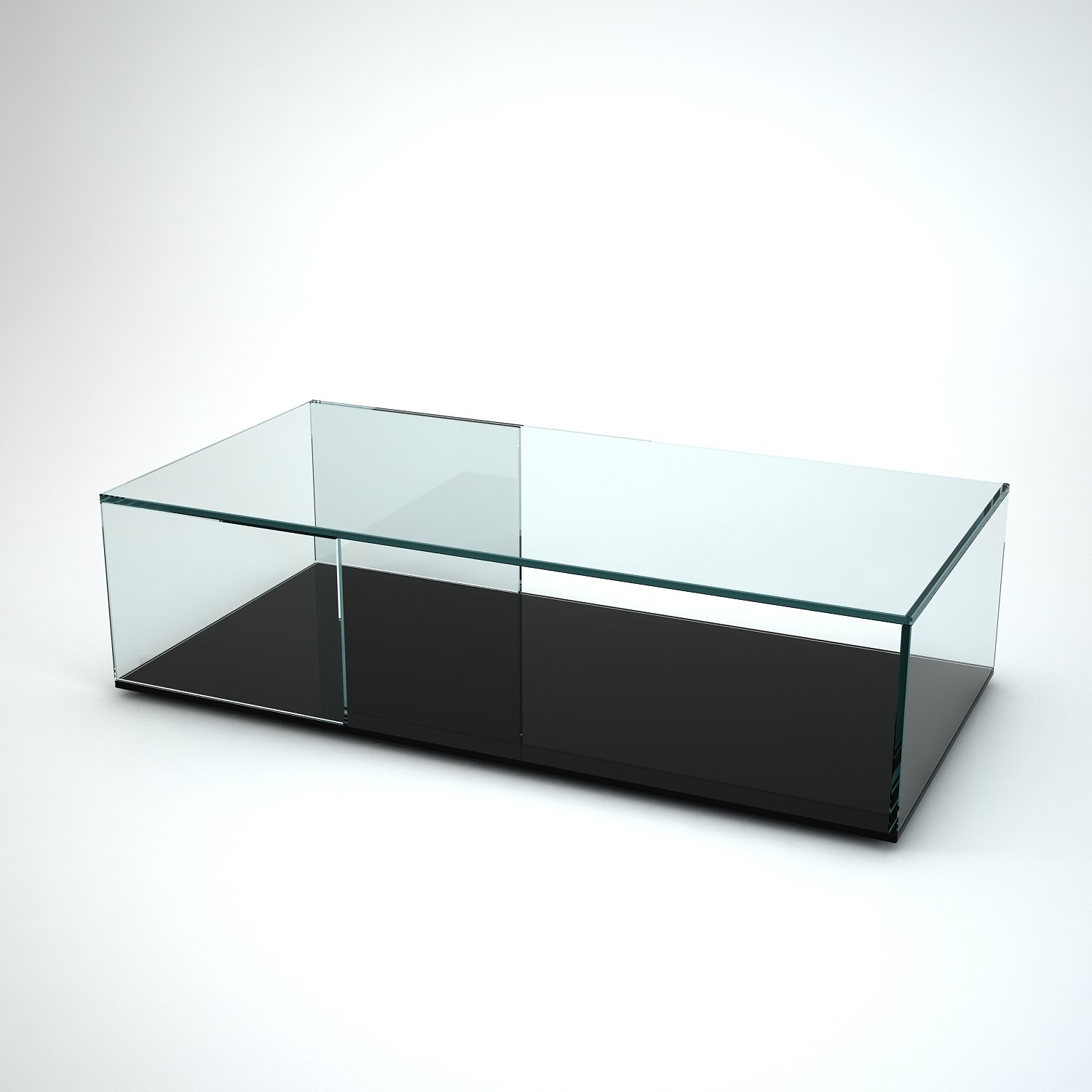Tifino Rectangular Glass Coffee Table by Klarity Klarity Glass