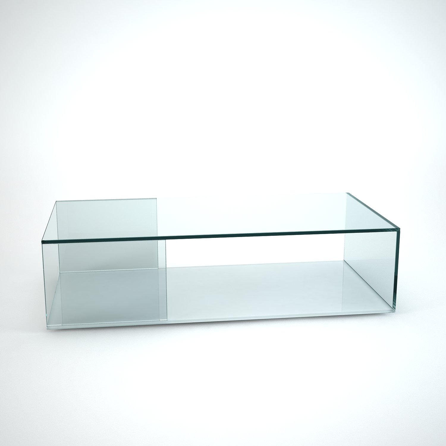 Glass Coffee Tables Uk Only: Tifino Rectangular Glass Coffee Table By Klarity
