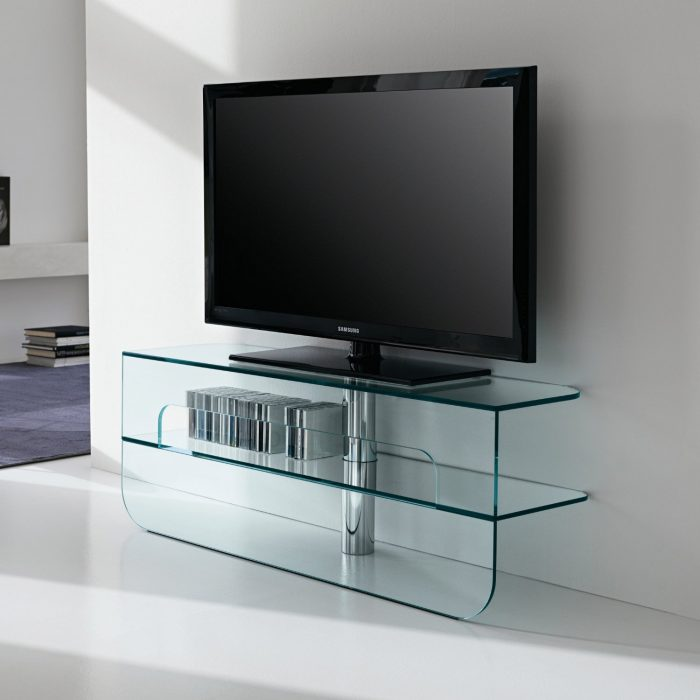 plasmatik glass tv stand