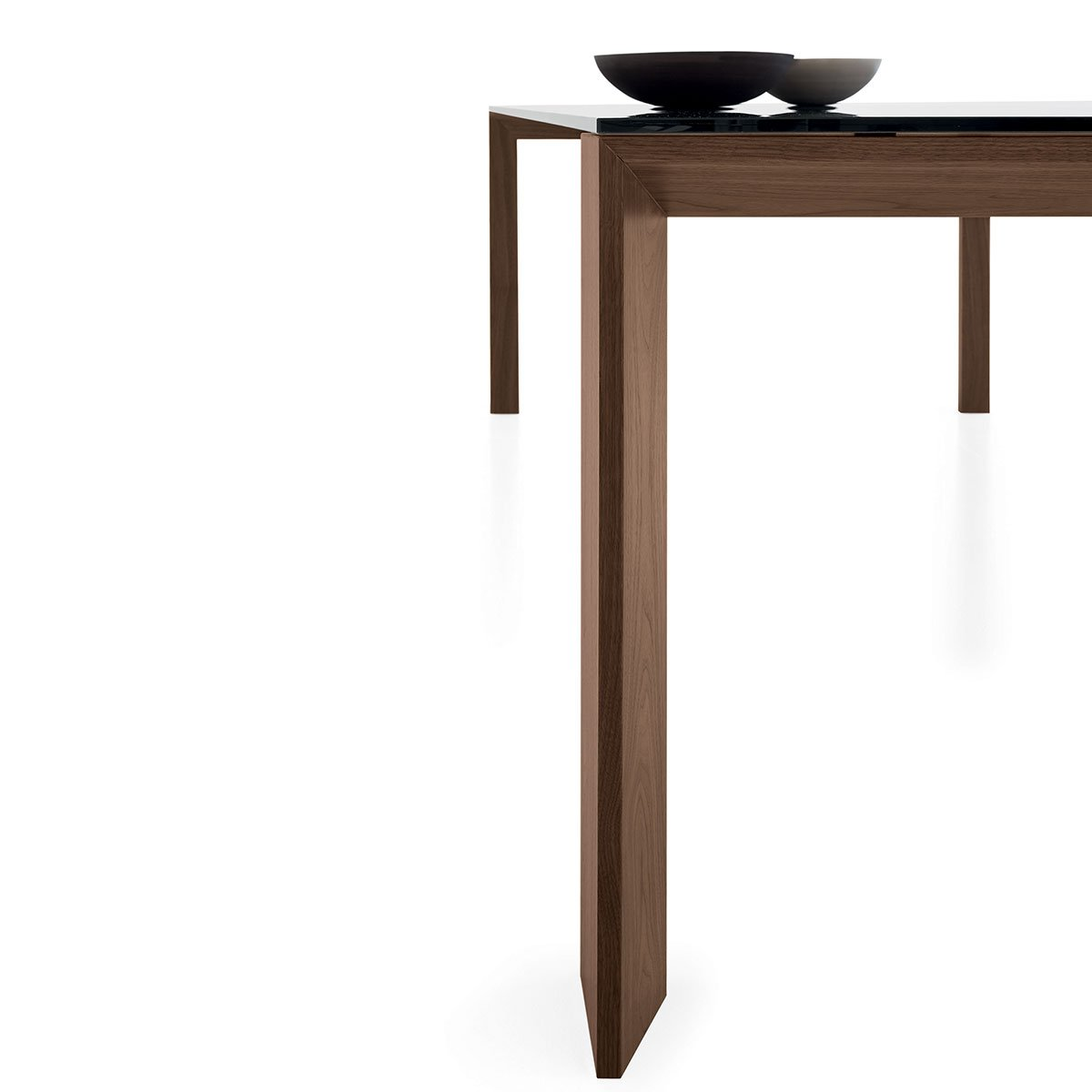 Toronto wood and glass top table klarity furniture