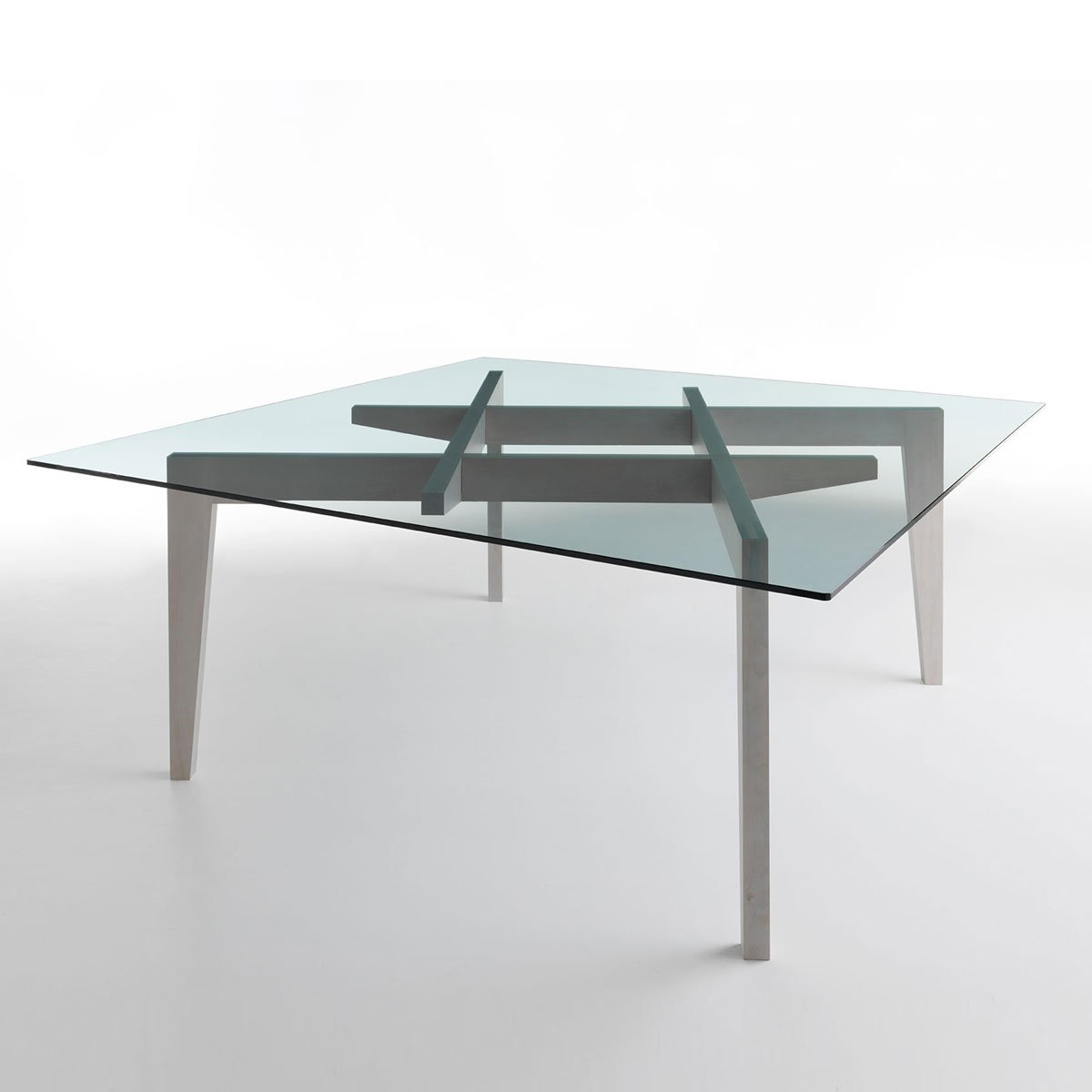 Autoreggente Wood & Glass Dining Table - Klarity - Glass ...