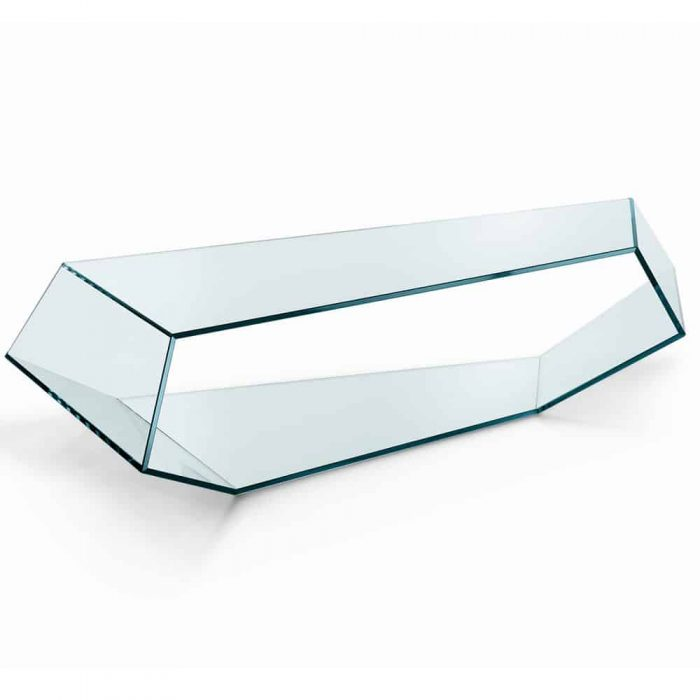 Dekon Glass Coffee table by Tonelli