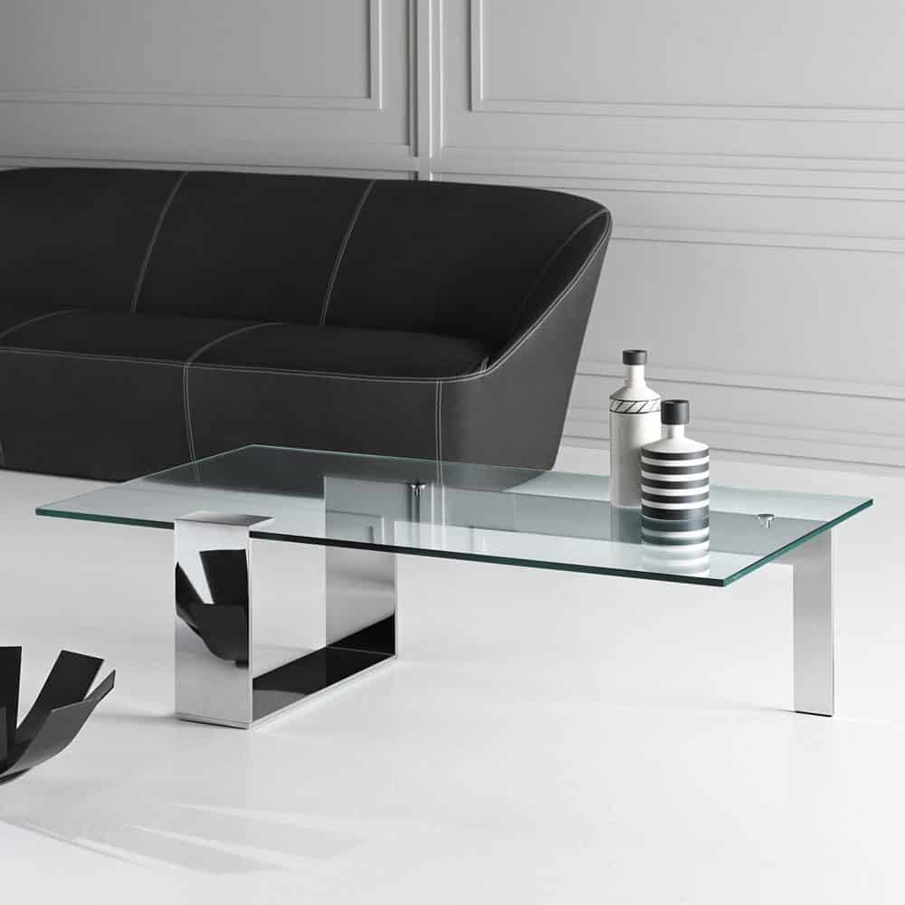 Plinsky Glass Coffee Table By Tonelli Klarity Glass Furniture