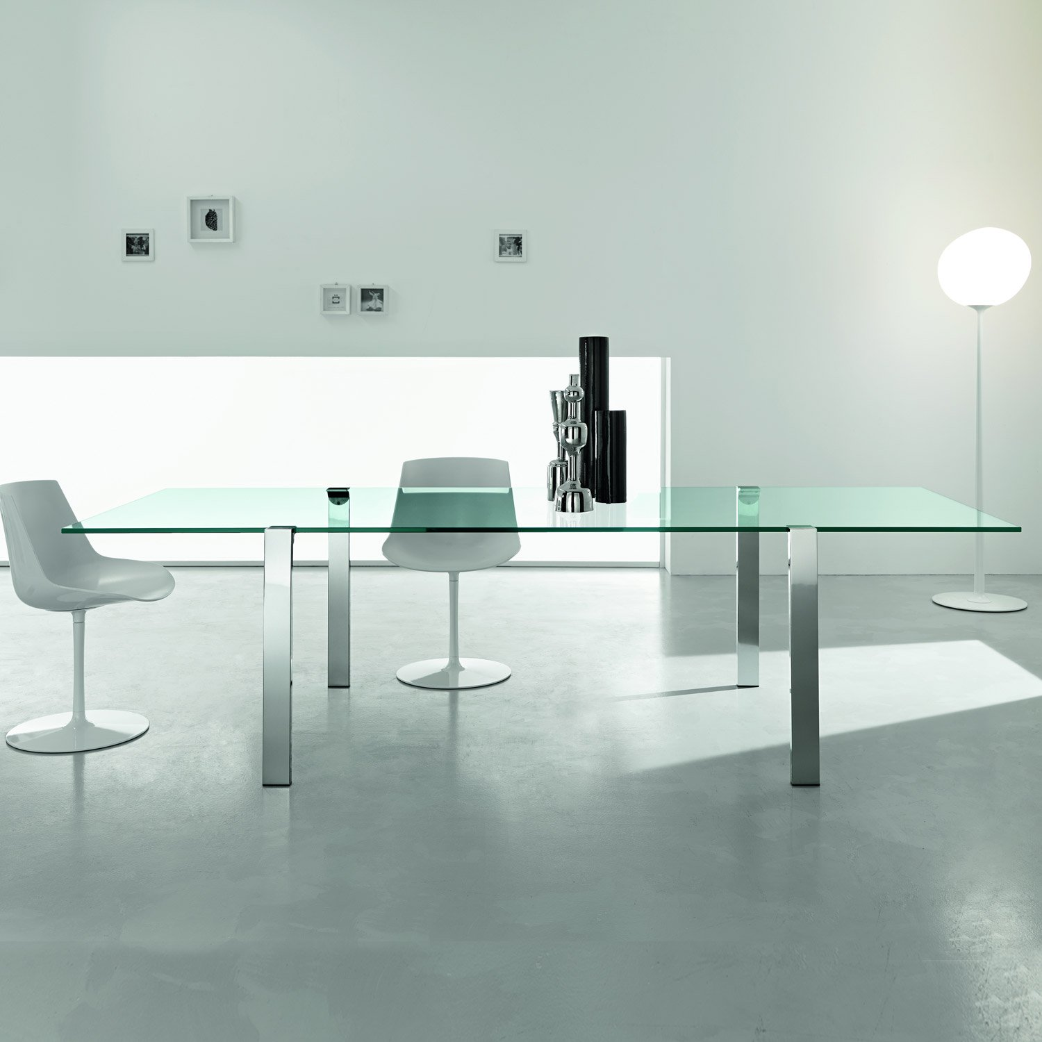 Livingstand Glass Table By Tonelli Glass And Metal