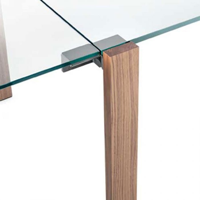 ... Tables / Livingstone Extending wood and glass dining table by Tonelli