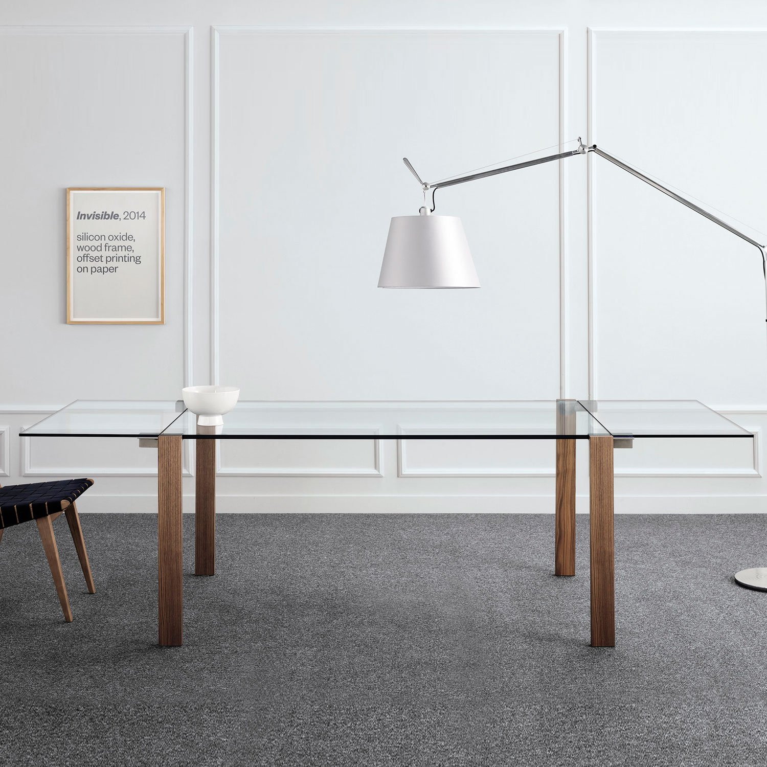 Livingstone Extending Wood And Glass Dining Table By Tonelli Klarity