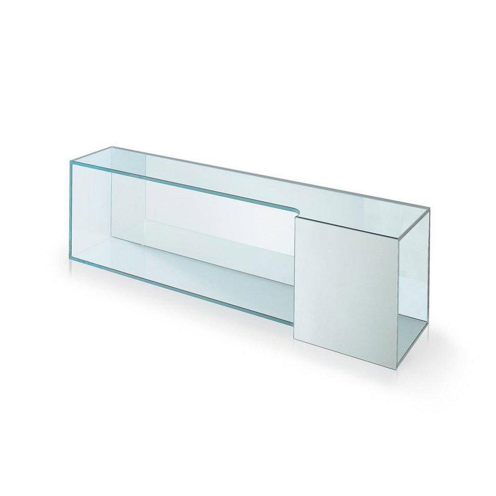Brama 2 Mirrored Shelf By Tonelli Klarity Glass Furniture