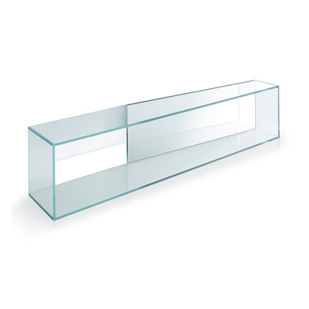 Brama 3 mirrored shelf by tonelli klarity glass furniture Mirror glass furniture