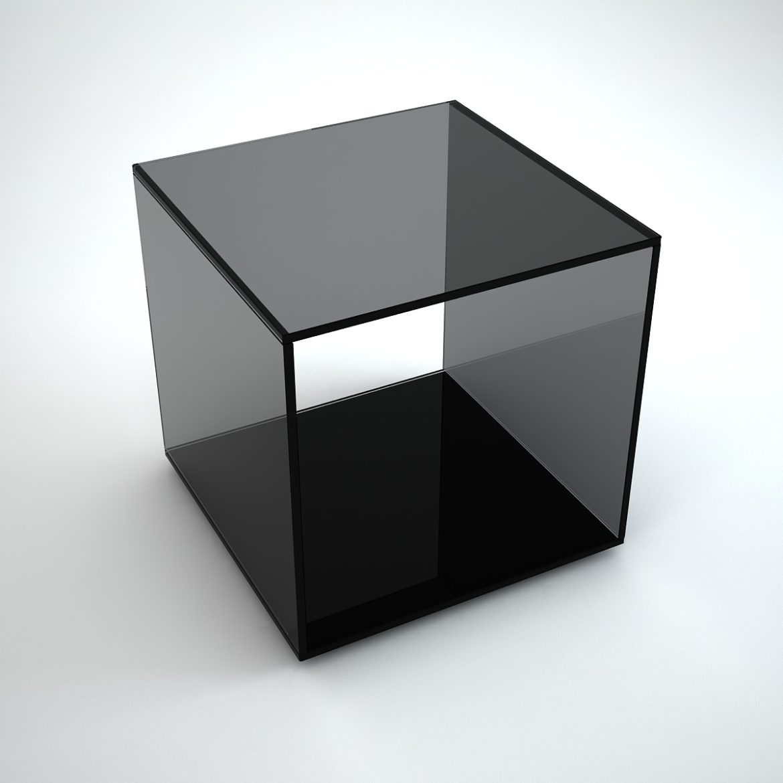 Quebec - black glass side table